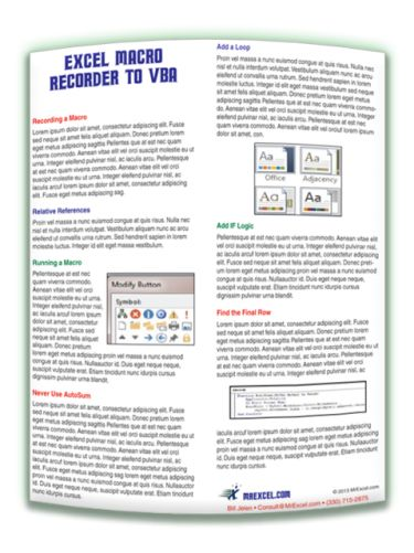 MrExcel Excel Macro Recorder to VBA Tip Card (digital download)