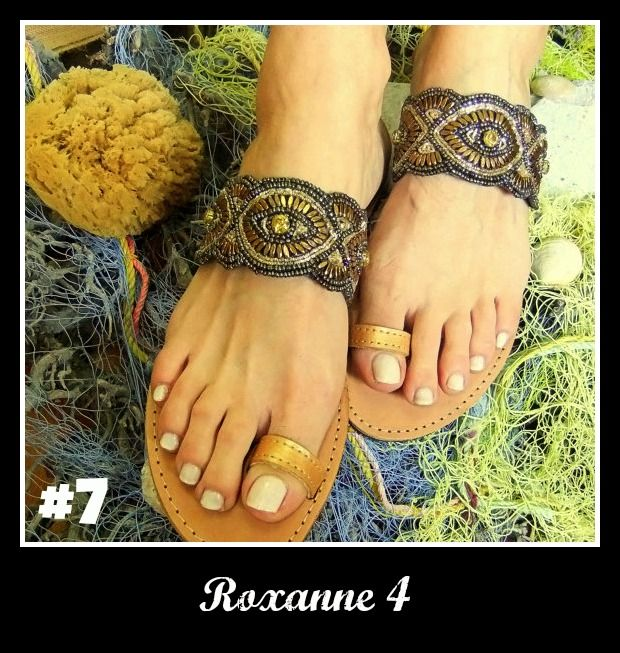 Number 7, Roxanne 4. Click the link for more! http://www.greekinnovativesandals.com/2015/01/roxanne-4.html €109.00
