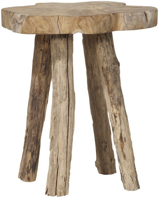 Met krukje Ibis haalt u de natuur in huis voor een wereldprijs! Het krukje lijkt direct uit een donker bos te komen en het onbewerkt teakhout heeft een verweerde grijze kleur. Hierdoor staat het stoer in een trendy interieur, maar ook in een landelijke setting zal Ibis zich zeker thuis voelen. Uiteraard kunt u Ibis ook als praktisch bijzettafeltje gebruiken!