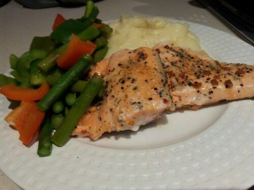 (Recipe adapted from this blogpost) This dish is a great all-in-one meal. Potatoes boiled in the Thermomix bowl, veggies steamed in the Varoma dish, and fish on the tray. Best thing is that you can…