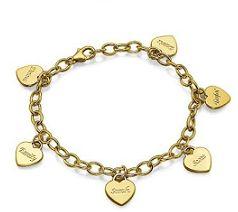 Jaqun957 - 18K gold plated family names bracelet R850