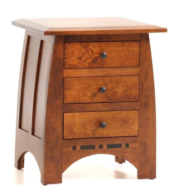 Bench Built From The Finest North American Hardwood And Crafted With A  Beautiful Mission Style, Our Amish Vineyard Nightstand Will Be The Perfect  Bedside ...