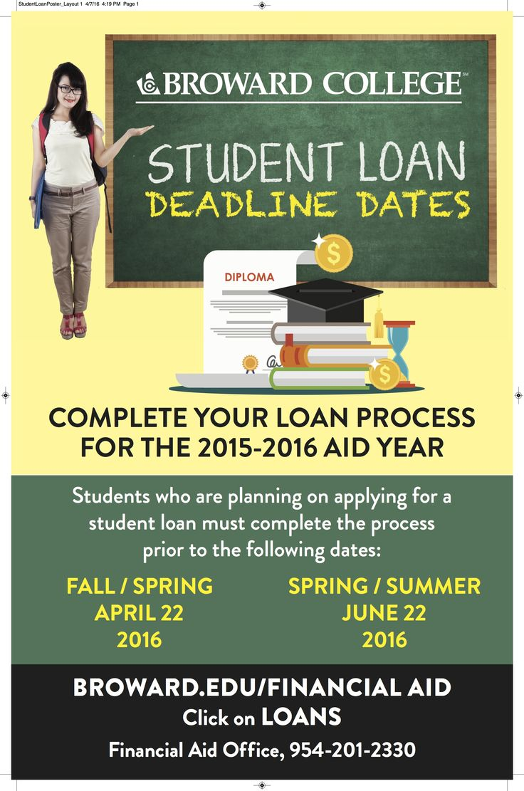 Important dates student loans broward college fafsa
