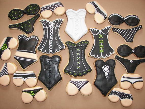 lingerie party pack cookies--colors customizable