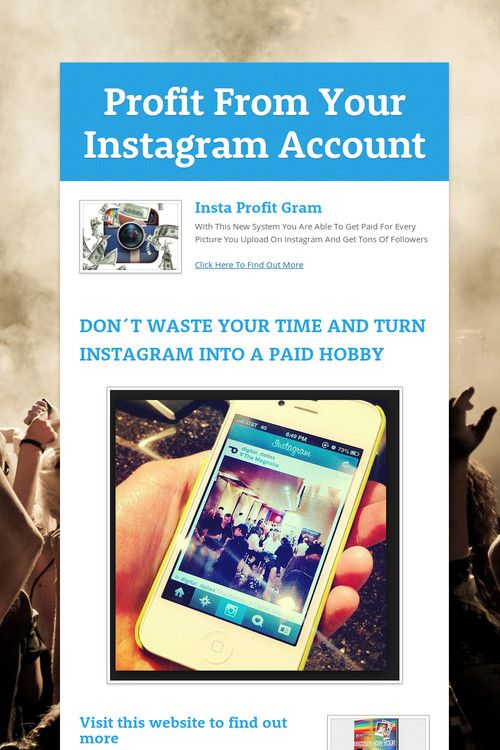 Profit From Your Instagram Account
