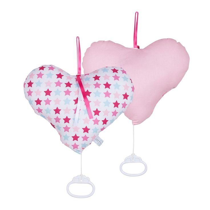 Een schattige muziekdoos voor in de kinderkamer. Uit de serie Mixed stars pink van Little Dutch.
