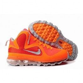 Unique Lebron James 9 x Air Max Fusion Men Basketball Shoes Orange/Grey  1001 $70.80