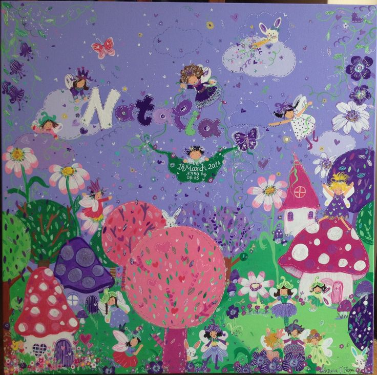 Baby girl #custom painting for nursery#fairies.
