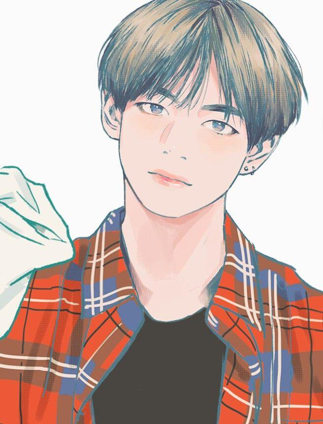 Resultado De Imagen Para Taehyung Dibujo Anime | BTS Fanarts | Pinterest | Dibujos Animados ...