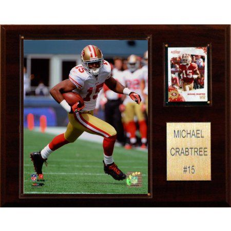 C Collectables NFL 12x15 Michael Crabtree San Francisco 49ers Player Plaque