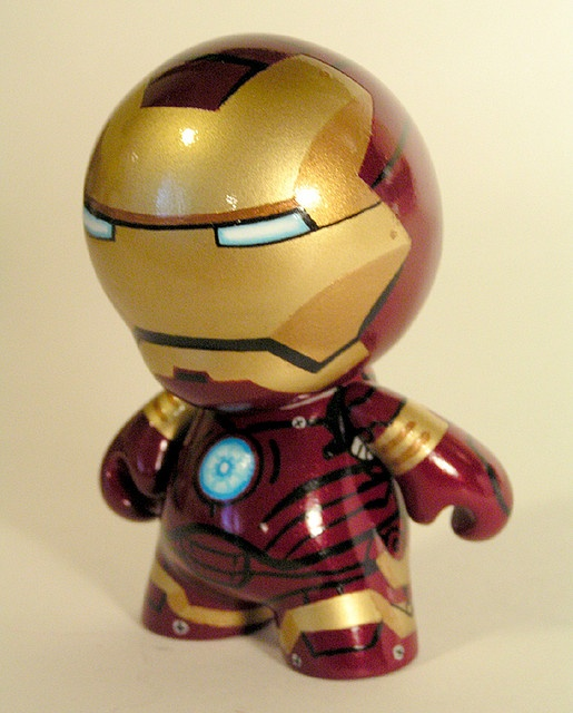 Iron man mini munny by hefnatron via flickr comics - Mini iron man ...