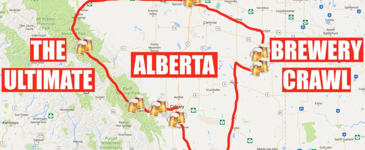 This Map Will Take You Through The Most Epic Brewery Road Trip In Alberta featured image