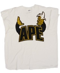 Price: $39.00  White t-shirt with embroidered design.     Note: Apes are not in any way associated with Alpha Phi Alpha Fraternity, Inc.