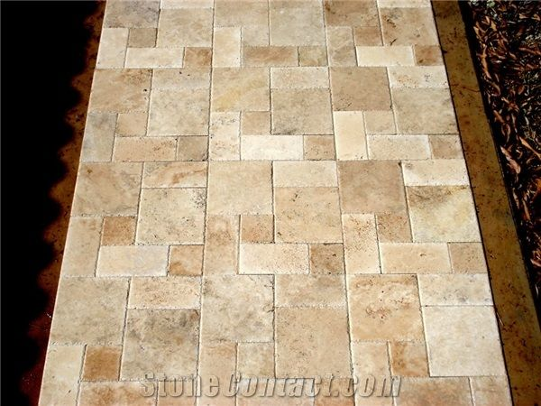 Travertine Mezzo Roman Pattern Paver P217490 1b Jpg 600