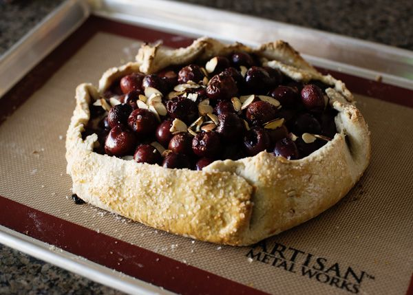 Cherry Almond Galette with Cinnamon Whipped Cream - Baked Bree