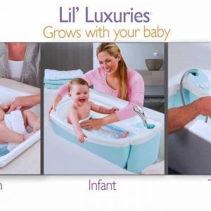 Summer Infant Lil Luxuries Bath Tub With Whirlpool Bubbling Spa And Shower