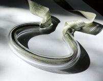 plexi tube necklace Ela Piętak