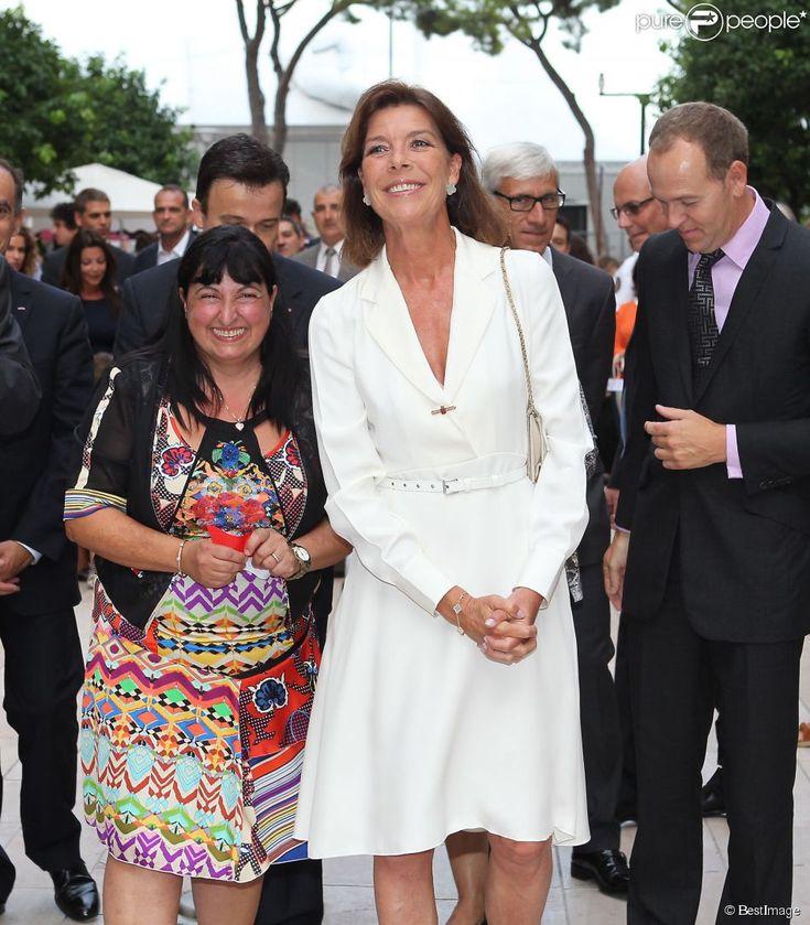 Exclusif - La princesse Caroline de Hanovre a inauguré le 10 septembre 2014 la rue Princesse-Caroline après travaux d'embellissement, dans le quartier de la Condamine à Monaco.