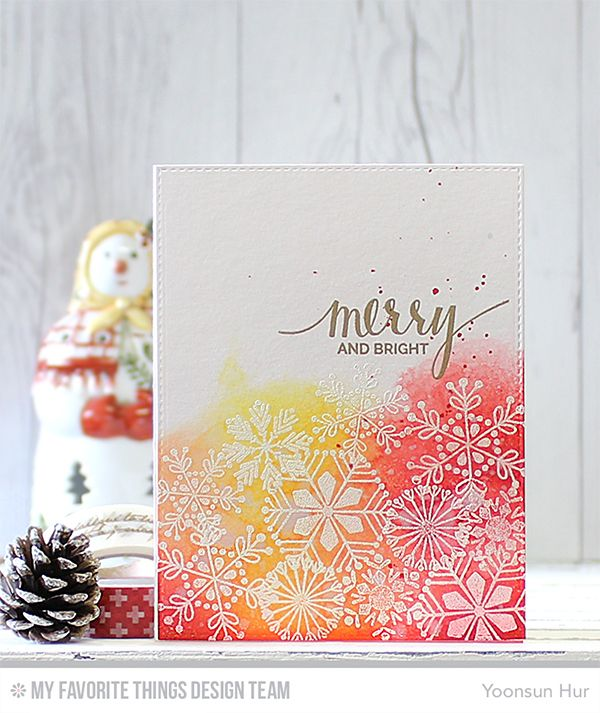 Hand Lettered Holiday, Snowflake Flurry - Yoonsun Hur  #mftstamps
