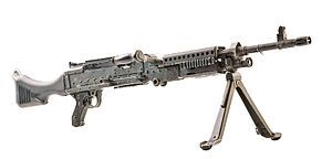 The M240, officially Machine Gun, 7.62mm, M240, is the US military designation for the FN MAG (Mitrailleuse d'Appui Général, meaning General Purpose Machine Gun), a family of belt-fed, gas-operated medium machine guns firing the 7.62×51mm NATO cartridge.