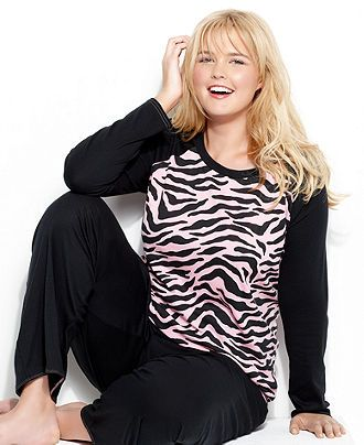 Jenni by Jennifer Moore Plus Size Pajamas, Top and Pajama Pants Set - Plus Size Pajamas & Robes - Plus Sizes - Macy's