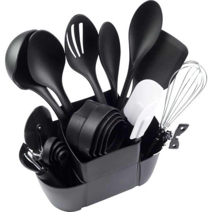 Cooking Utensil Set 21 Piece Kitchen Utensils Tool Gadget Set Spatula Spoon #Mainstays