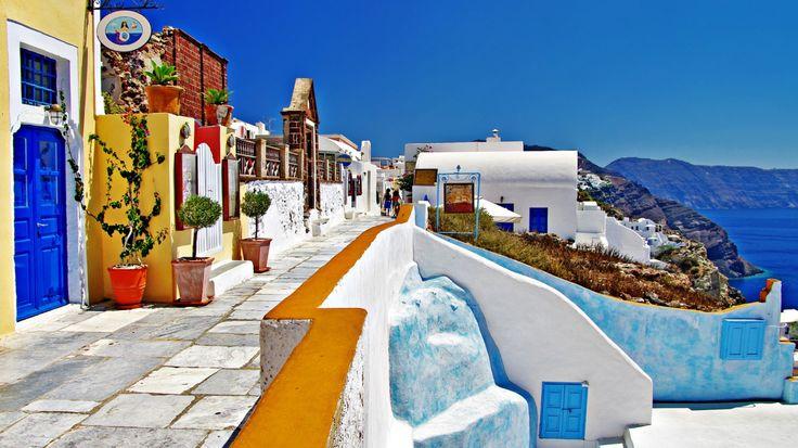 Beautiful Greece 1366x768 wallpaper