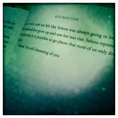 To Selena, With Love - Chris Perez Such a good book!! & I'm not going to lie, I cried.