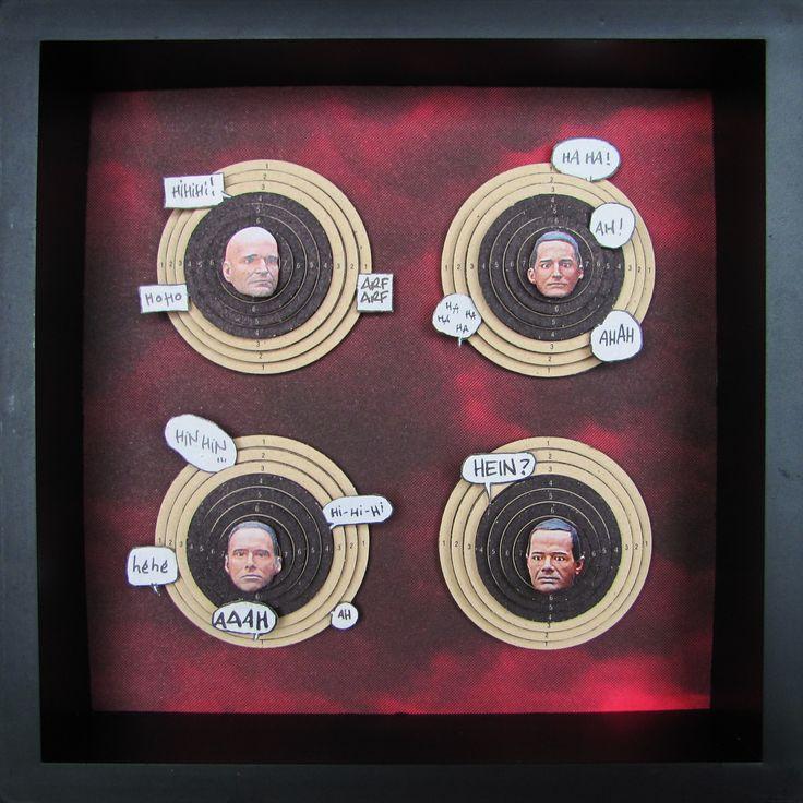 Kraft Wurst - Cadre collage papier en volume 3D : Collages par io-schipper