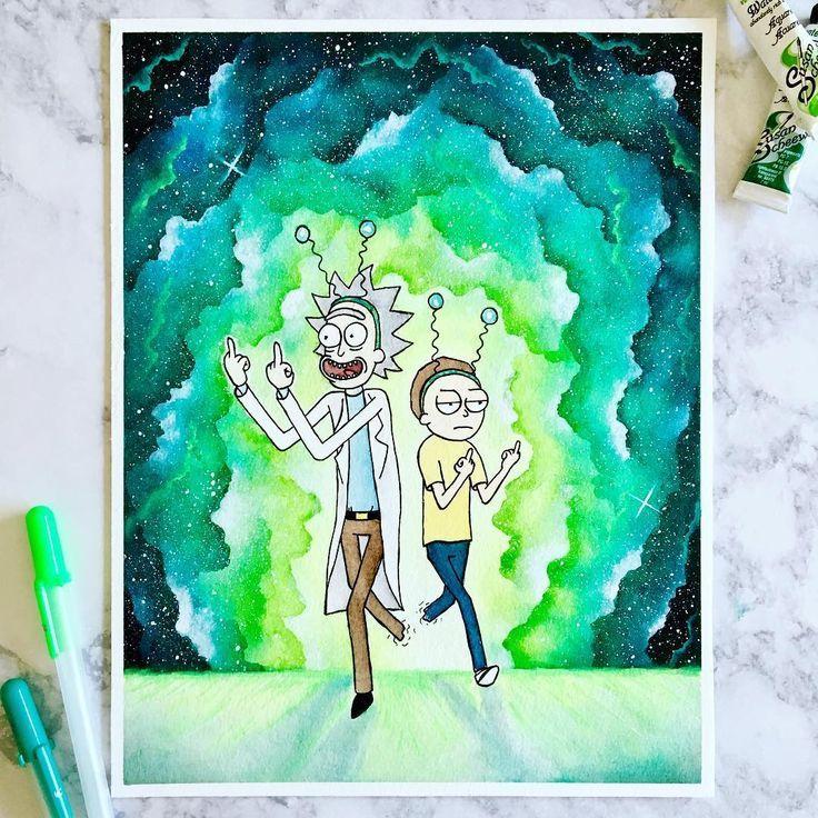 Morty Du Musst Sie Abwerfen Ich Habe Ihnen Gesagt Das Bedeutet Frieden Zwischen Den Welten Wie Wachsmalkunst Rick Und Morty Zeichnen