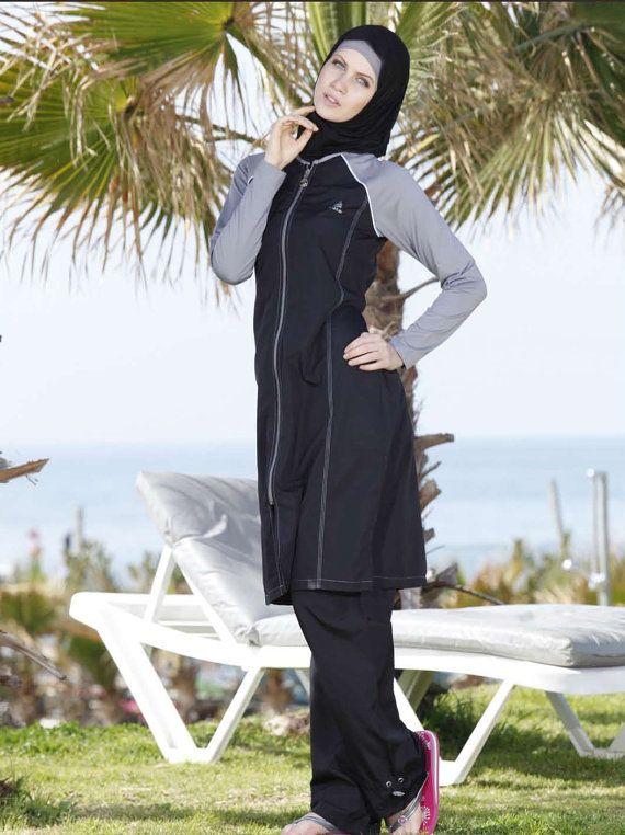 Adabkini Nergis Women's Swimsuit Full Cover by sassymannequin