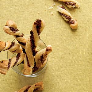 Our Best Party Appetizers | Tapenade Twists | CoastalLiving.com  Perfect treats for football partys