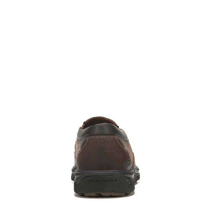 Skechers Men's Segment The Search Memory Foam Slip On Shoes (Dark Brown Leather) - 10.0 M