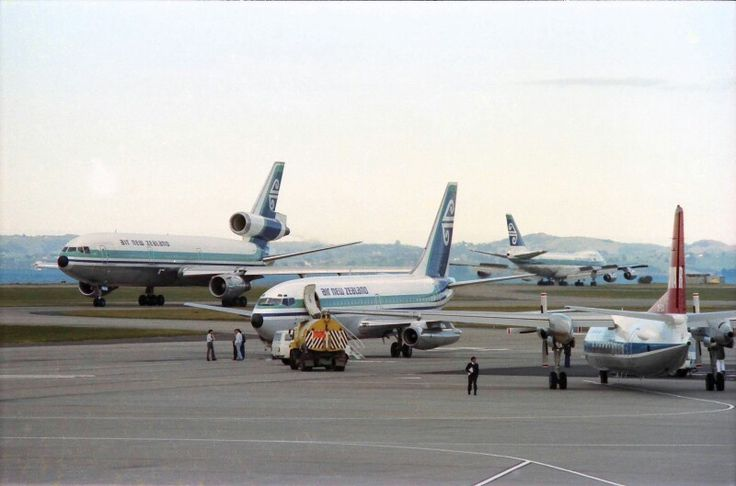 Air New Zealand DC-10-30, Boeing 737-219 & Boeing 747-219 Auckland. Image via google copyright owner