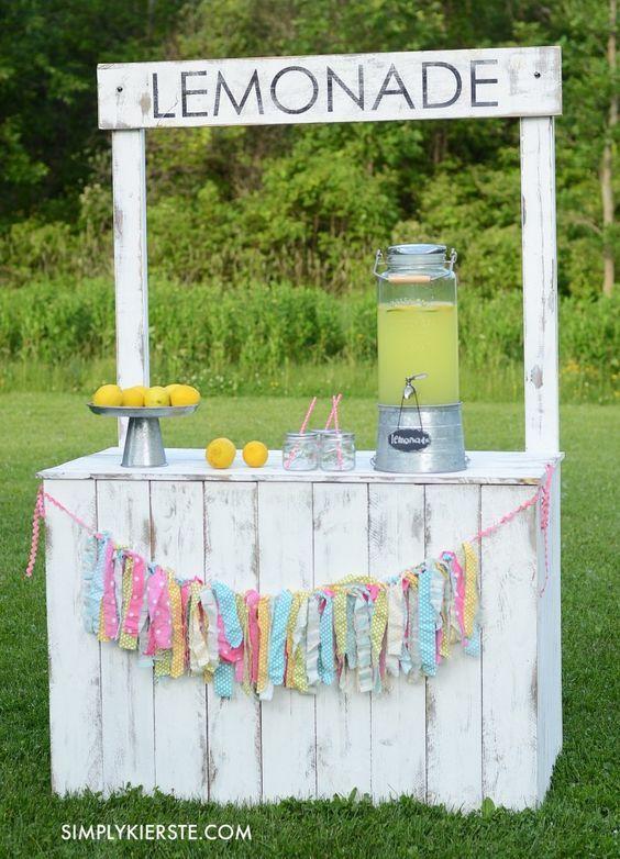 45 best lemonade stand ideas images on pinterest for Cool lemonade stand ideas