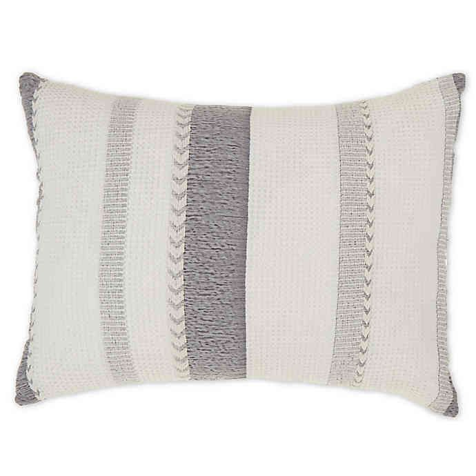 Bee Willow Home Multicolor Stripe Jacquard Oblong Throw Pillow Bed Bath Beyond Oblong Throw Pillow Throw Pillows Throw Pillows Bed