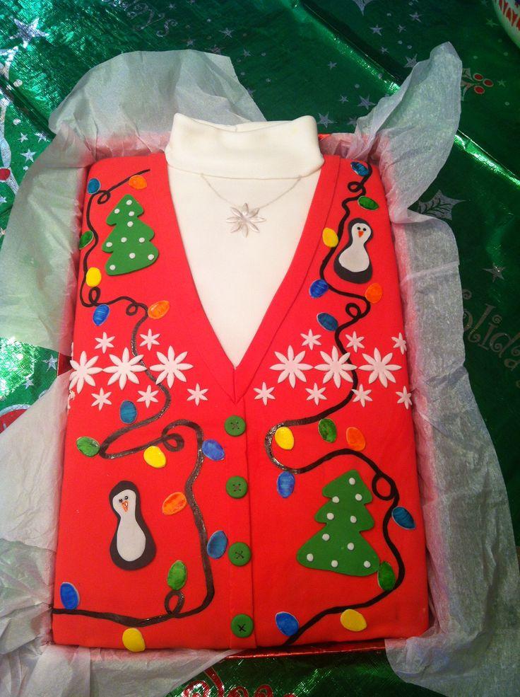 Ugly Christmas Sweater Cake