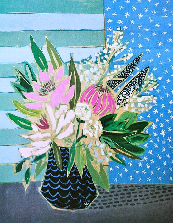 Lulie Wallace Print - Flowers for Katherine