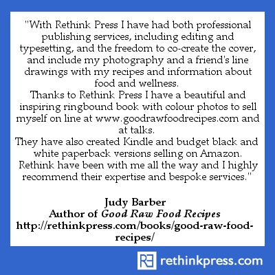 Judy Barber, author Good Raw Food Recipes