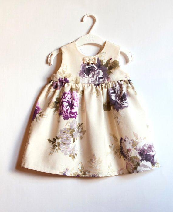 Avorio ragazza Baby fiore vestito 3m 9m vestito Baby di WELOKI
