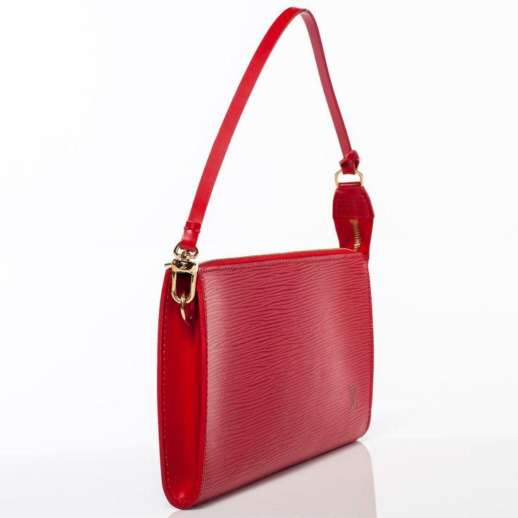 LOUIS VUITTON Epi Pochette Accessories 24 Bag Rouge Red