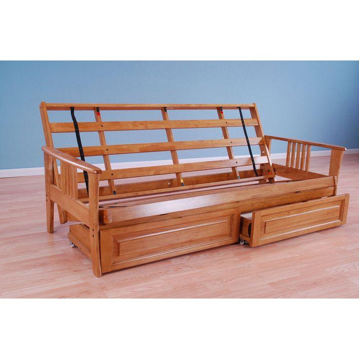 christopher knight home capri butternut futon frame only capri frame butternutframe only