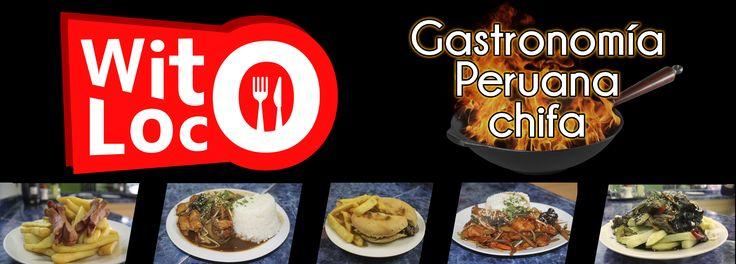 Letrero restaurante peruano