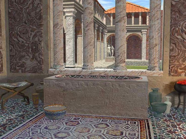 Ancient Egyptian Baths Ancient Roman Bath House Reconstruction Home Decor Pinterest