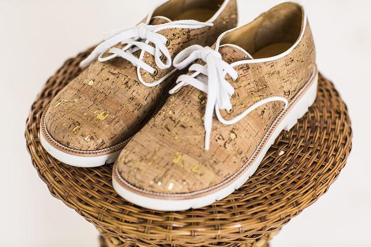 Cork lace ups from Argentine shoe designer Mishka