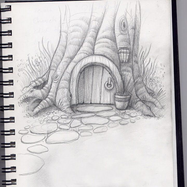 19 best pencil and drawing images on pinterest pencil for Hobbit house drawings