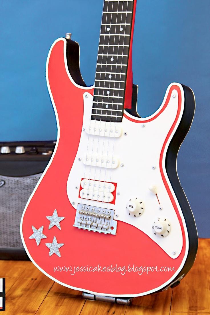 Stand-Up Guitar Cake - Jessicakes