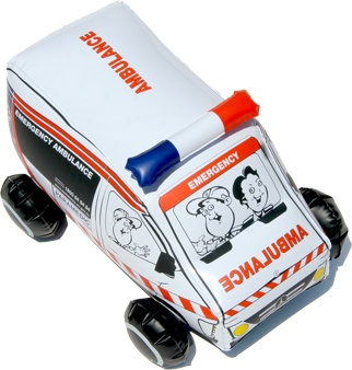 Ambulance Victoria produced a mini inflatable replica to hand out to children travelling in an ambulance.    Stand out from the crowd with a custom product today!