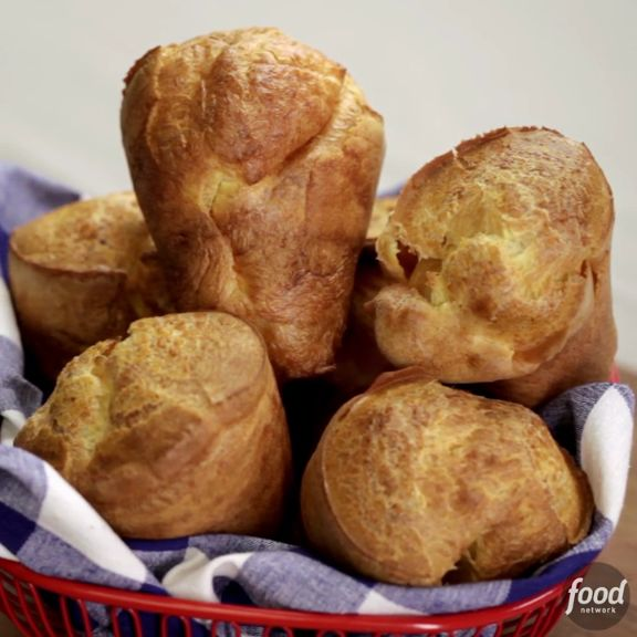 These Popovers are so easy to make, you'll be making them year-round! They're great as a snack topped with butter, or as a warm treat filled with jam during the holidays.