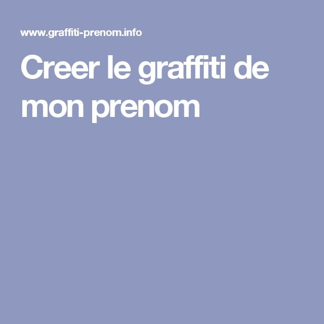 Souvent Les 25 meilleures idées de la catégorie Graffiti prenom sur  RZ39